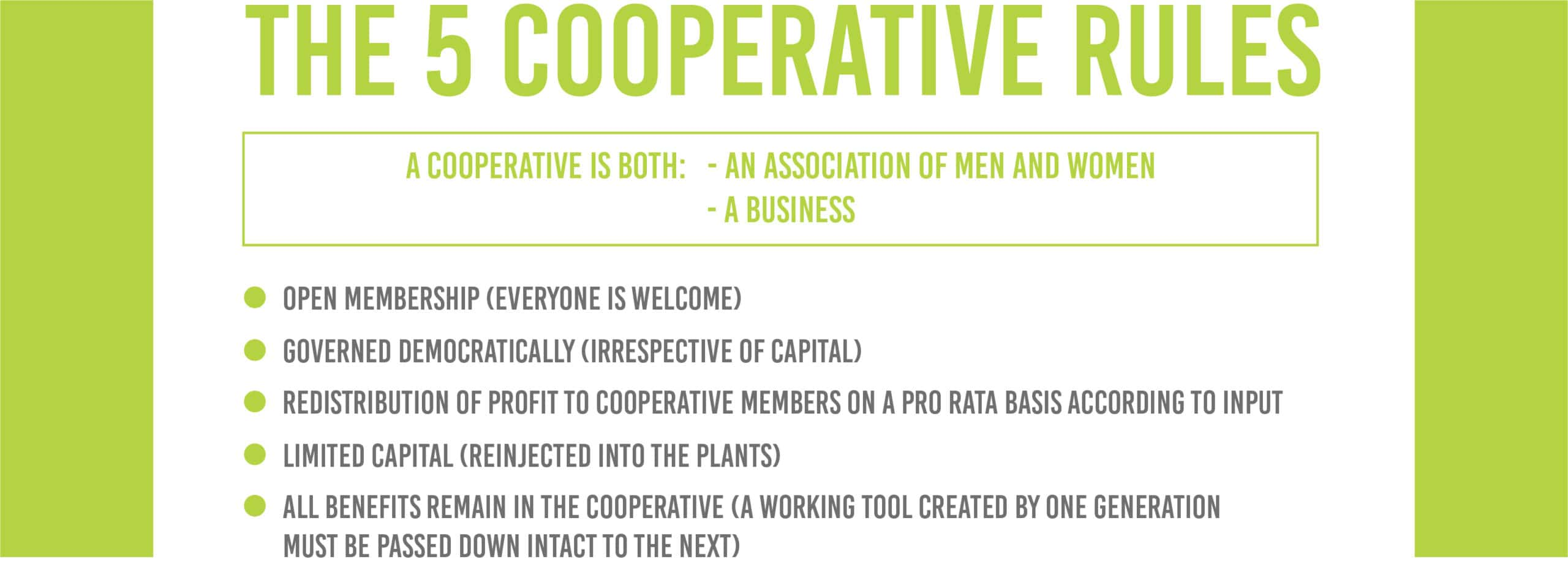The 5 cooperative rules