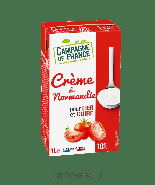 Crème UHT Campagne de France 18% 1L