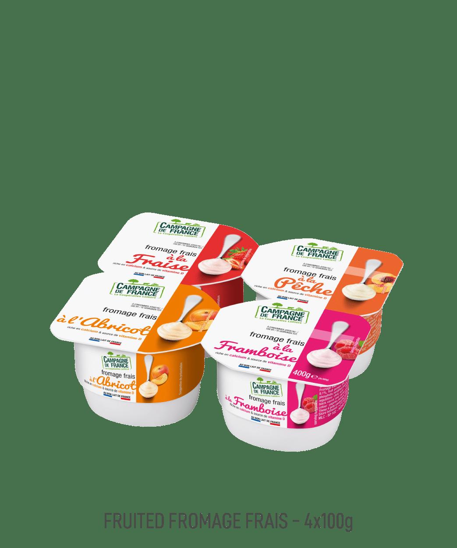 Fromage frais Campagne de France pot 100G aux fruits