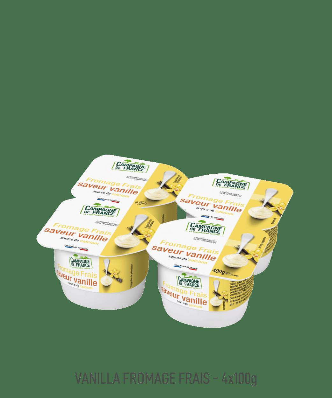 Fromage frais Campagne de France pot 100G vanille