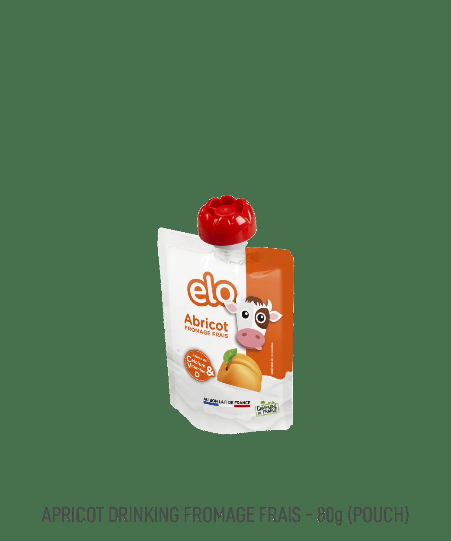 Gourde de yaourt à boire aromatisé à l'abricot Elo