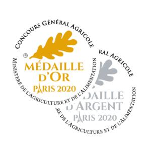 montage médailles or et argent Concours générale agricole 2020