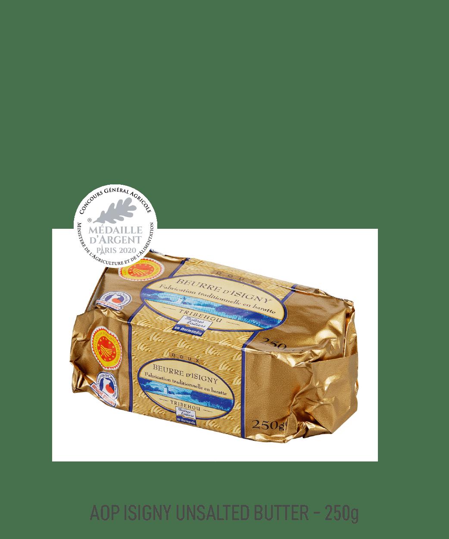 Beurre doux AOP Isigny tribehou 250g moulé