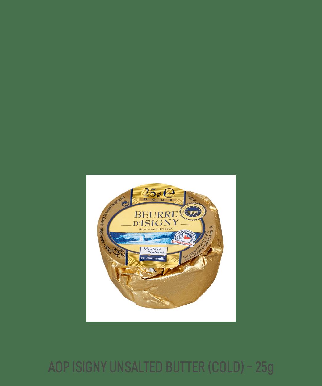 Beurre doux motte AOP Isigny tribehou 25g