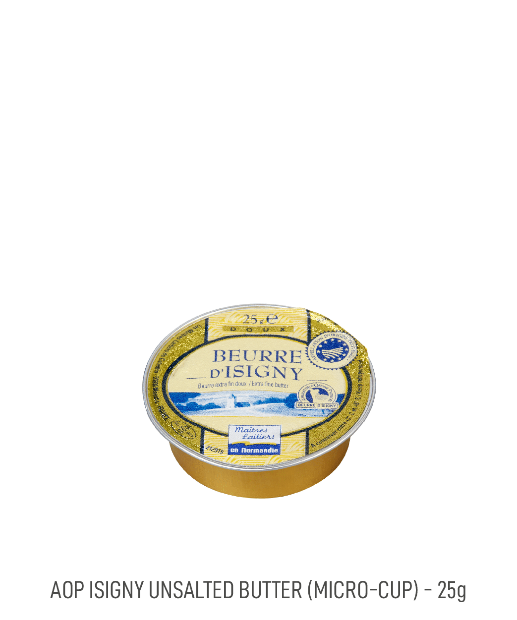 Beurre doux coupelle AOP Isigny Tribehou 25g