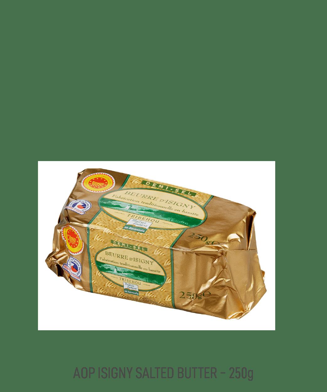Beurre demi-sel AOP Isigny tribehou 250g moulé
