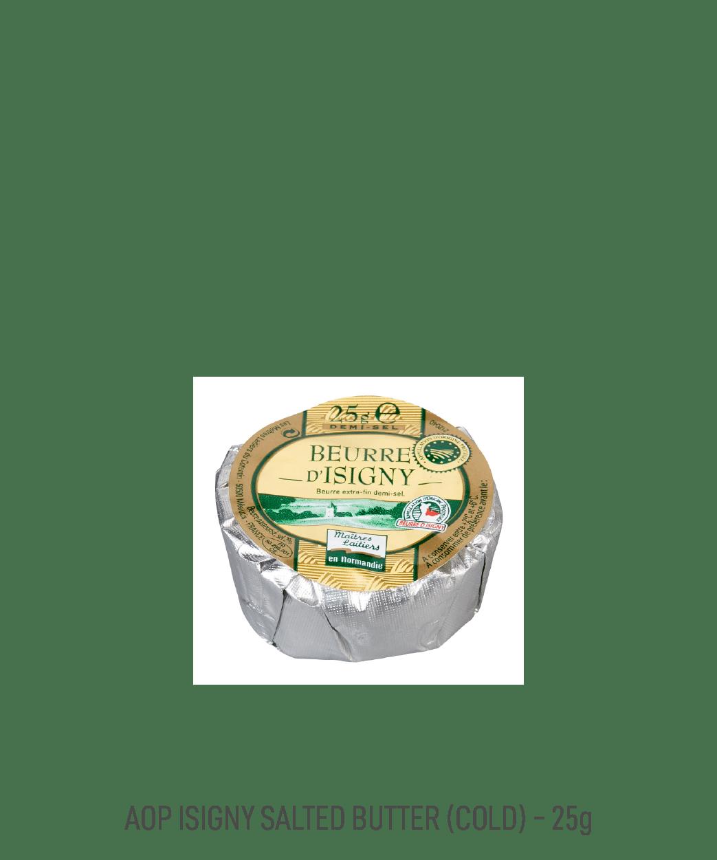 Beurre demi-sel motte AOP Isigny Tribehou 25g