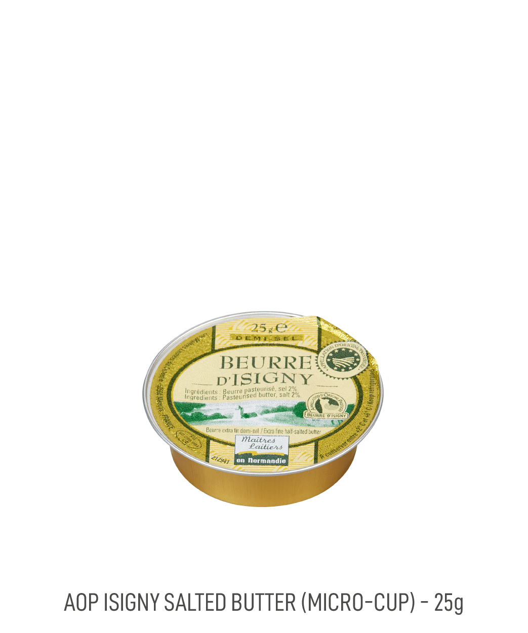 Beurre demi-sel coupelle AOP Isigny Tribehou 25g