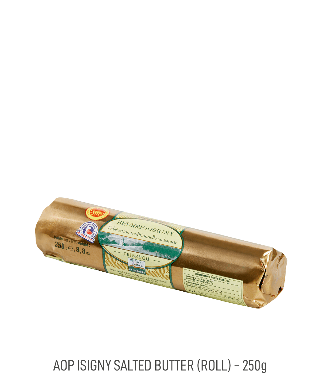 Beurre demi-sel AOP Isigny tribehou 250g rouleau
