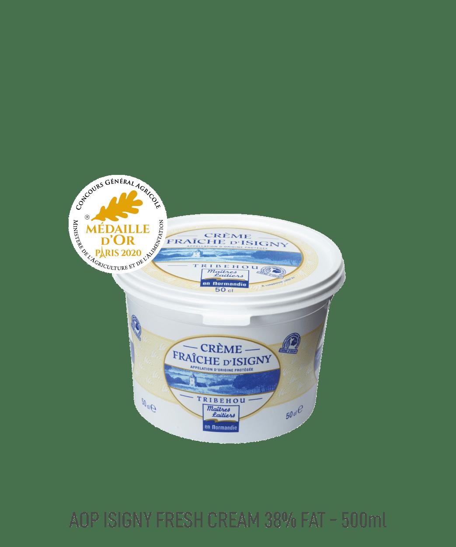 Crème Fraîche AOP 38% MG Isigny 50CL Maîtres Laitiers du Cotentin