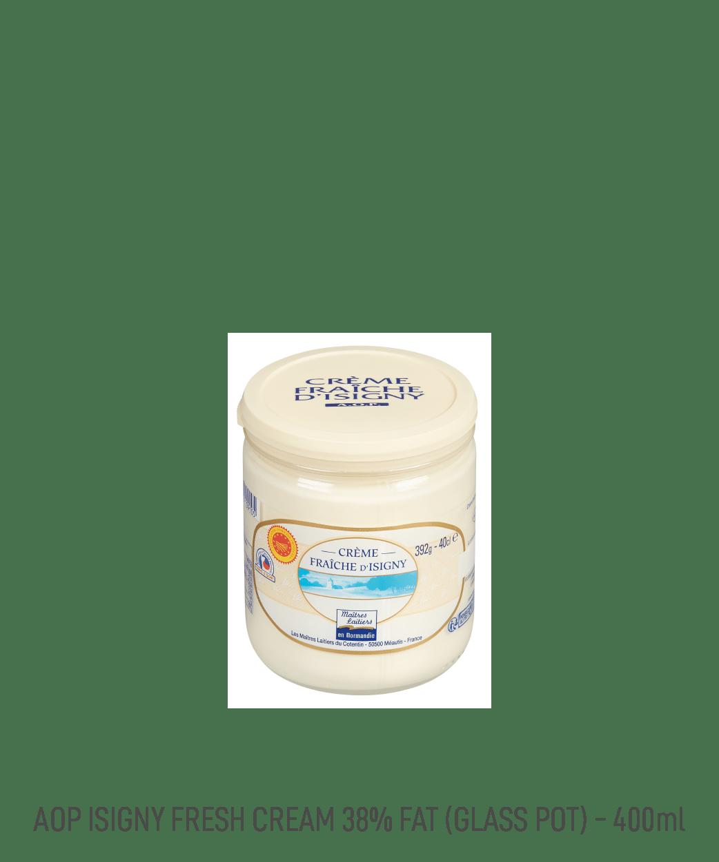 Crème Fraîche AOP 38% MG Isigny Verrine 40CL