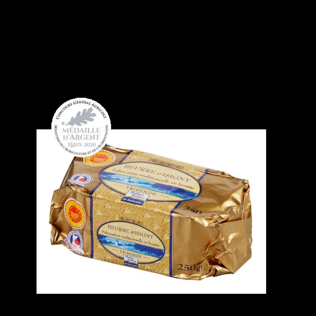 Beurre doux AOP Isigny tribehou 250g moulé Concours Générale agricole 2020 Maîtres Laitiers du Cotentin